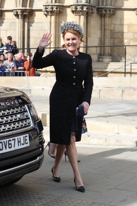 Sarah Ferguson steals the show in chic navy and black ensemble at Ellie Gouldings star studded wedding Photo C GETTY IMAGES