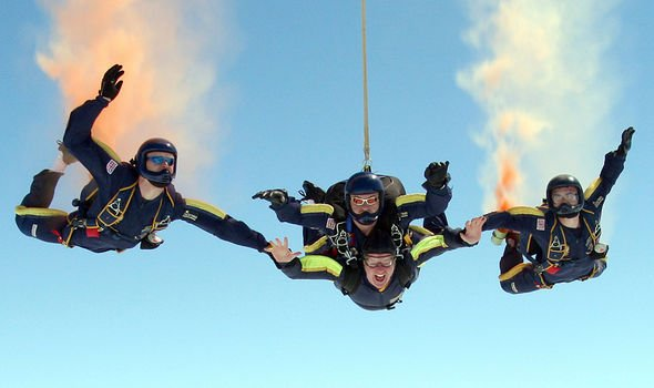 Skydiving can also cause noise disturbance and injuries Image GETTY