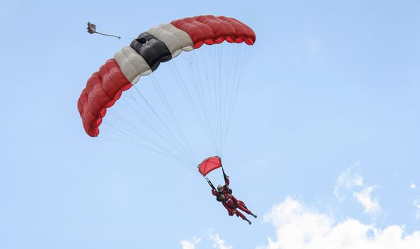 Skydiving is a very polluting activity Image GETTY