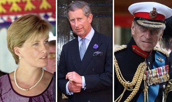 Sophie Countess of Wessex Prince Charles Prince Philip Image Getty
