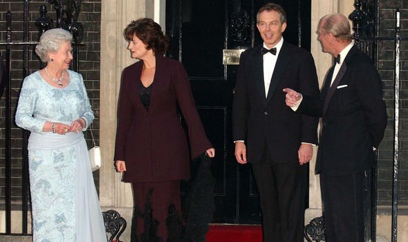 The Blairs with the Queen and Prince Philip fo rthe Jubilee celebrations Image Getty