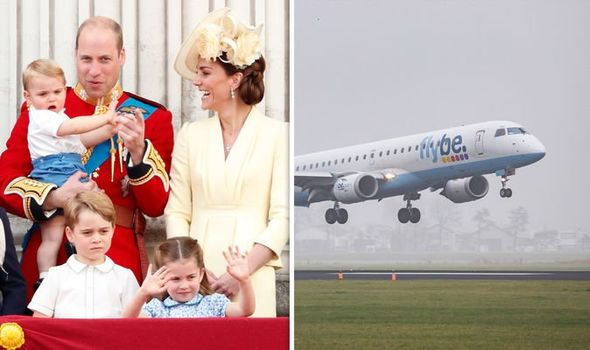 The Cambridges travelled on a standard Flybe flight from Norwich to Aberdeen Image GETTY