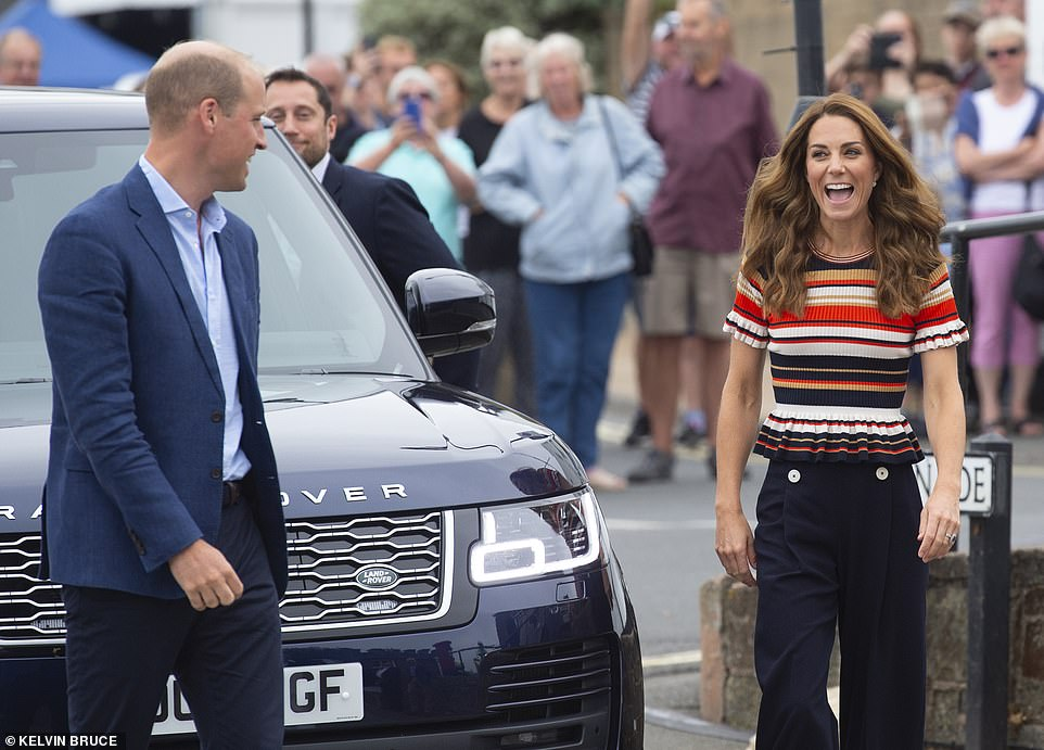 The Duchess of Cambridge appeared in excellent spirits as she arrived at the event alongside husband Prince William
