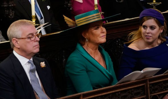 The Duchess sat near her ex husband at Princess Eugenies wedding Image Getty