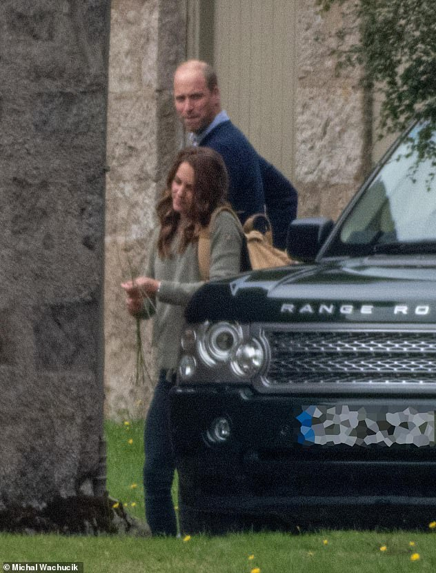 The Duke and Duchess of Cambridge both pictured sported a dressed down look as they arrived at Balmoral estate today