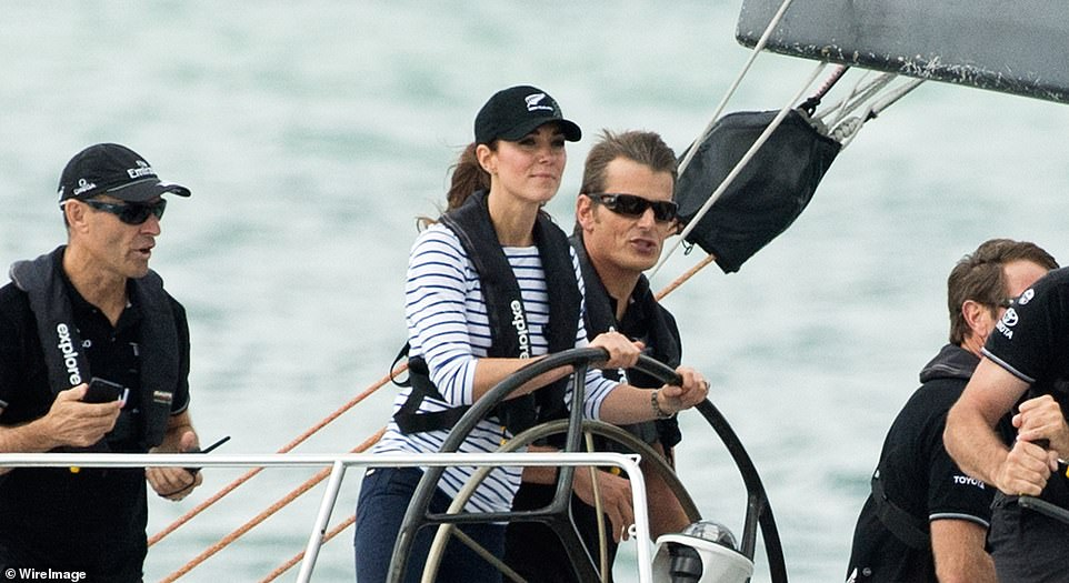 The Duke and Duchess of Cambridge have gone head to head on the water before with Kate triumphing in a sailing race on their royal tour of New Zealand pictured