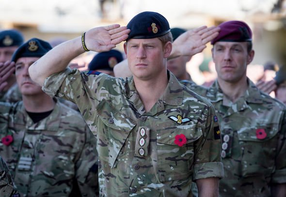 The Prince has been jostled by his old Army colleagues who said he was once a proper bloke Image GETTY