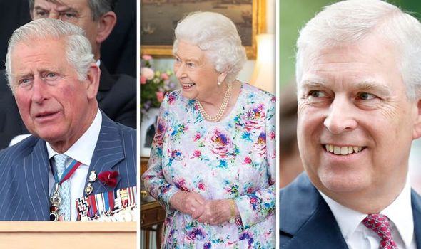 The Prince of Wales the Queen and the Duke of York Image Getty