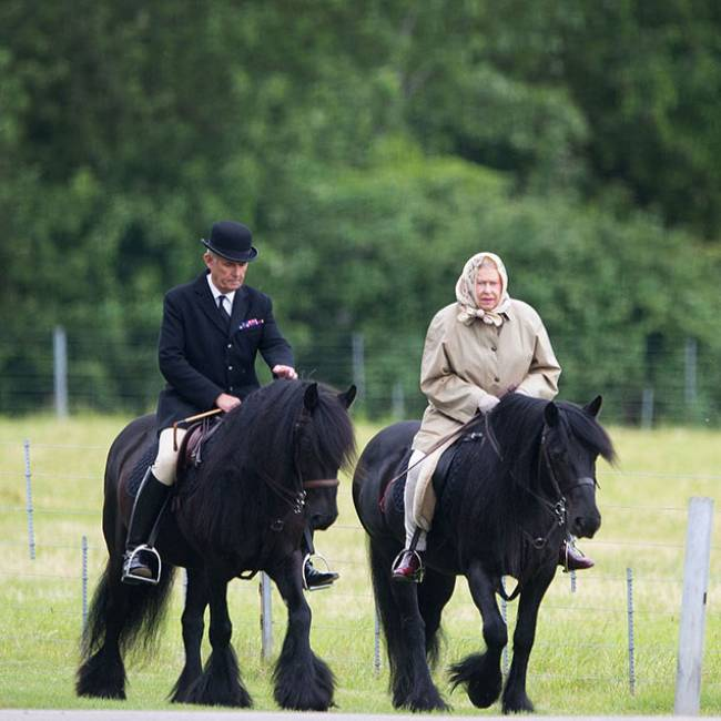 The Queen is an avid horse rider Photo C GETTY IMAGES