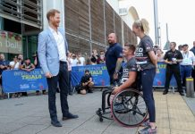 The prince met players at the Invictus UK trials in Sheffield last month photo C GETTY IMAGES