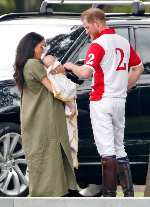 The royal couple were last pictured with baby Archie in July Photo C GETTY IMAGES