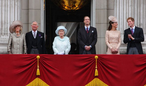 The slimmed down Royal Family appearance for the Queens jubilee Image Getty