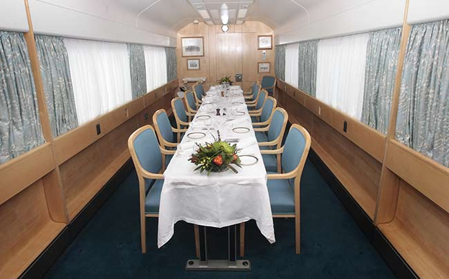 There is also a dining room for the royal visitors Photo C GETTY IMAGES