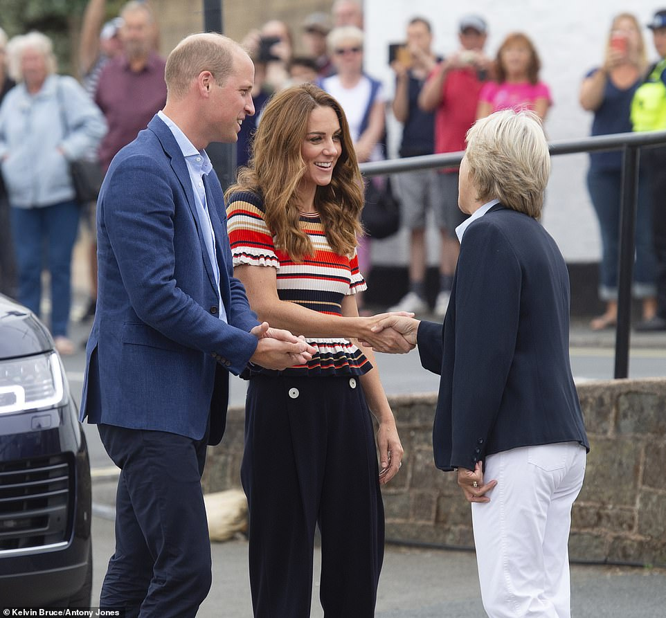 William and Kate arrived at The Royal Yacht Squadron in Cowes to sail in The Kings Cup Sailing Race They are competing against stars including adventurer Bear Grylls