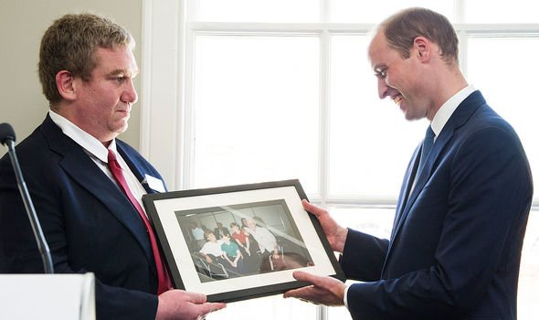 William was given a photo of his visit to The Passage with Diana when he became a patron of the charity Image Getty Images
