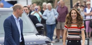 cropped Kate and Prince William are racing against each other in The Kings Cup today Image KELVIN BRUCE