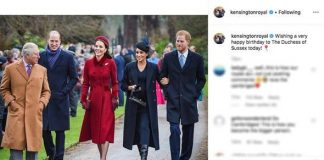 cropped Meghan Markle birthday The Cambridges added this touching tribute for Meghans birthday Image INSTAGRAM