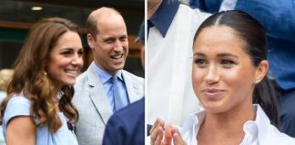 cropped Meghan Markle has been dogged by rumours of a rift with Kate and William Image GETTY