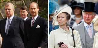 cropped Prince Andrew and Prince Edward Princess Anne and Prince Charles Image Getty