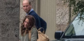 cropped The Duke and Duchess of Cambridge both pictured sported a dressed down look as they arrived at Balmoral estate today