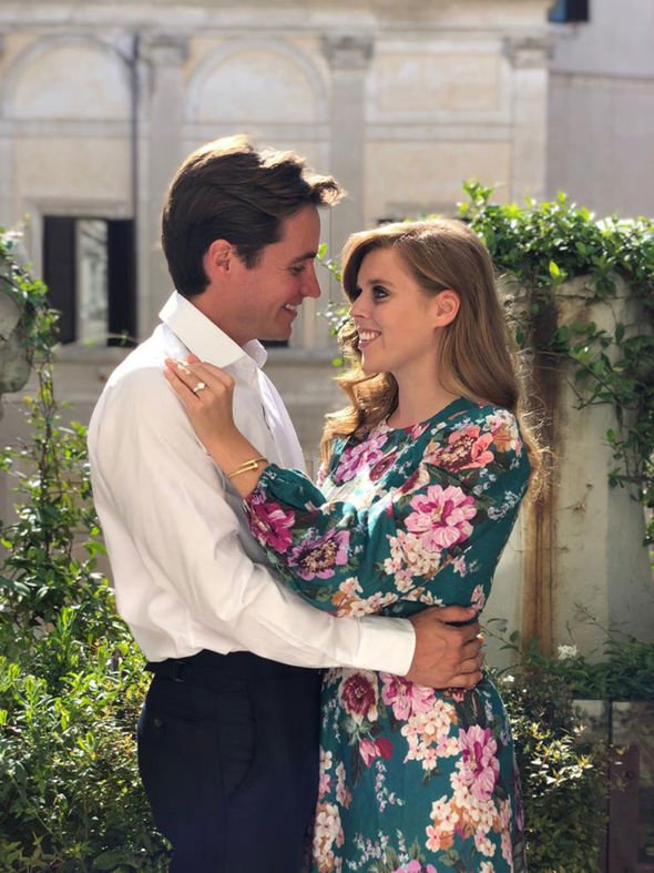 Beatrice's engagement to property tycoon Edoardo Mapelli Mozzi was announced