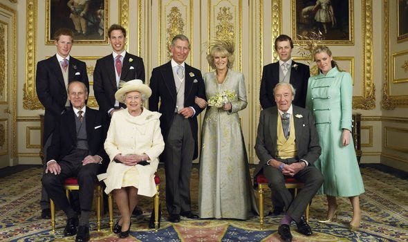 Camilla and Charles married in – their children stand beside them Image GETTY