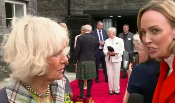 Camilla news Camilla laughed before saying of course she is a fan of the news channel Image Nine News Australia