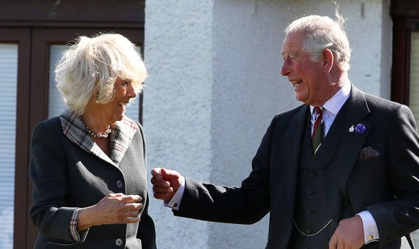 Camilla news the pair visited a whiskey distillery during their Scottish tour Image Getty