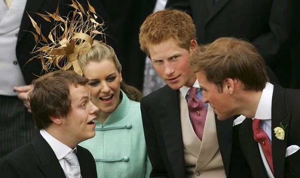 Camillas children Tom and Laura with Princes William and Harry Image GETTY