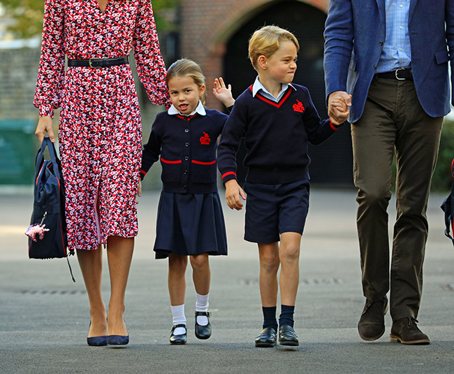 Charlotte added a personal touch to her school bag Photo C GETTY IMAGES