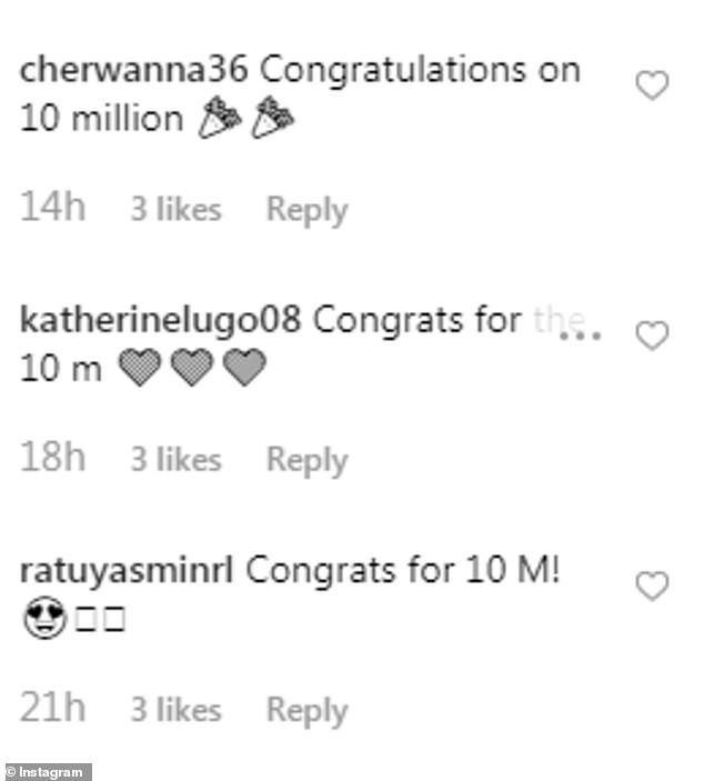 Cherwanna congratulations on million