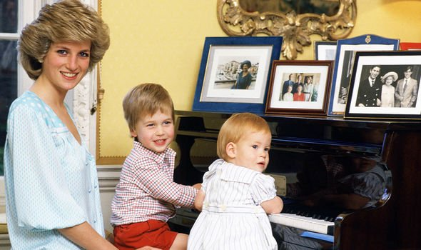 Diana and her sons Image GETTY