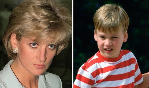 Diana made William cry after smacking him on the bottom Image GETTY