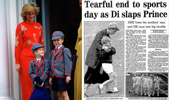 Diana reportedly snapped and made William cry during sports day Image GETTY EXPRESS CO_ UK