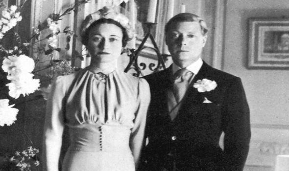 Edward VIII and Wallis Simpson on their wedding day Image Getty Images