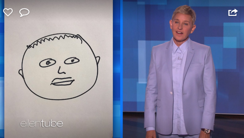 Ellen DeGeneres drew a picture of royal baby Archie after she met him Photo C GETTY IMAGES