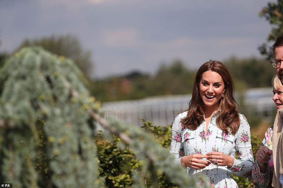 Fall for florals like the Duchess in a midi dress by Emilia Wickstead