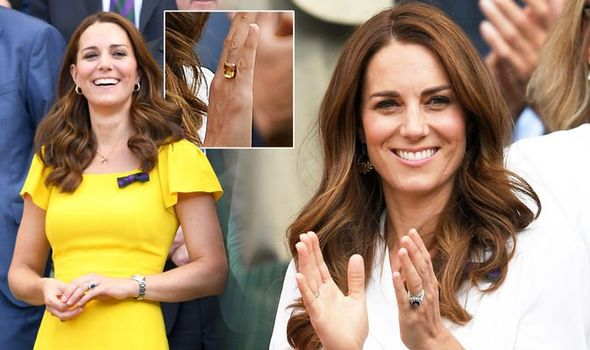 Kate Middleton Recently she has been spotted wearing a citrine ring which she first wore in Image GETTY