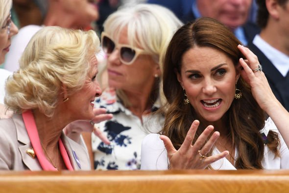 Kate Middleton She wore the jewelled ring when attending Wimbledon this year Image GETTY
