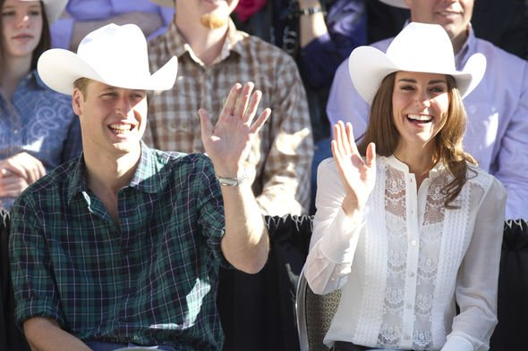 Kate Middleton and Prince William were seen posing in cowboy hats in Calgary Canada in Image GETTY