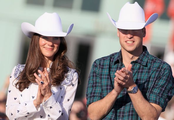 Kate Middleton and Prince William wore cowboy hats to their visit to Canada in Image GETTY