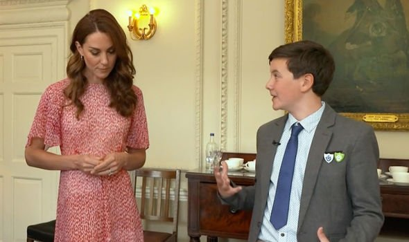 Kate Middleton news Kate can be seen helping to choose the winners earlier in the episode Image CBBC