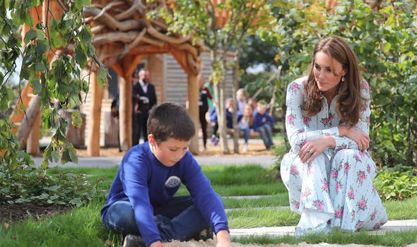 Kate Middleton news The Duchess was seen chatting to a young school boy Image PA