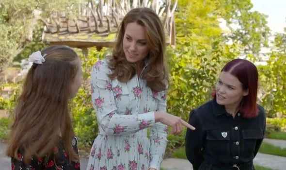 Kate Middleton news the Duchess asked if the flowers were clematis Image CBBC