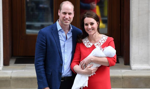 Kate Middleton pregnant Prince Louis was born in Image GETTY