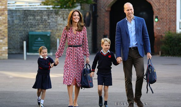 Kate debuted a new haircut as she dropped George and Charlotte off to school Image GETTY