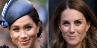 Kate ready to flee from Meghan Markle at Archies christening expert claims Image GETTY