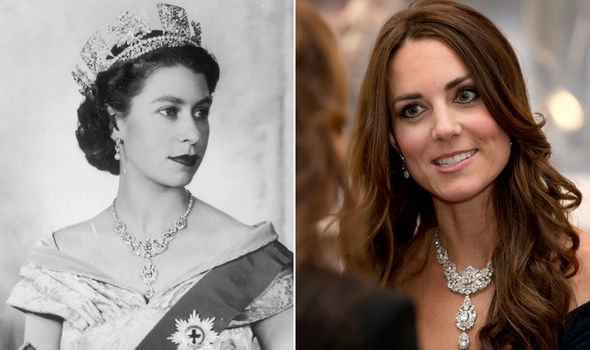 Kate wore the extravagant Nizam of Hyderabad necklace in Image Getty Images