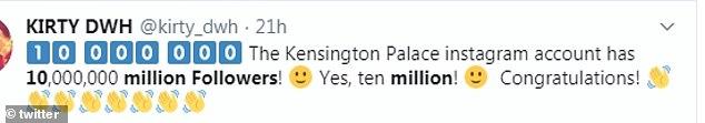Kensington Palace Instagram