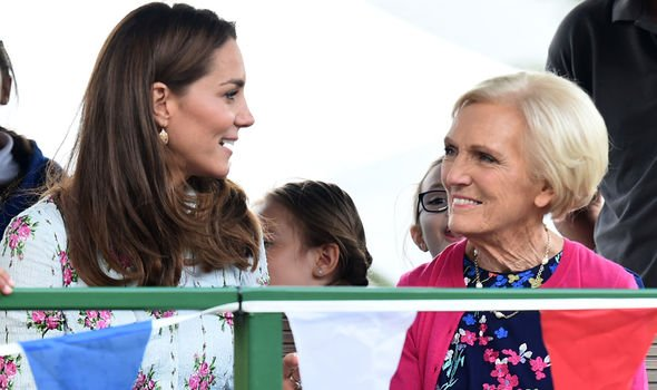Mary Berry accompanied the Duchess on the engagement Image PA